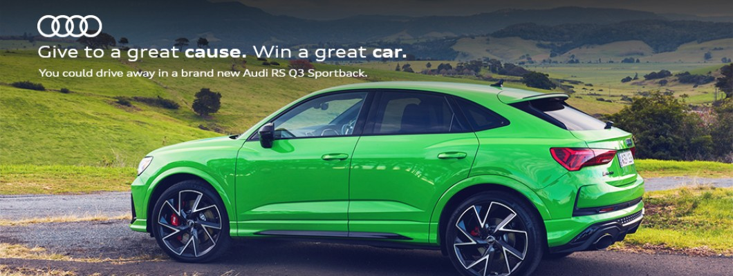 The Audi Foundation Prize is back! - Here's your chance to win an Audi RS Q3 Sportback in Kyalami Green
