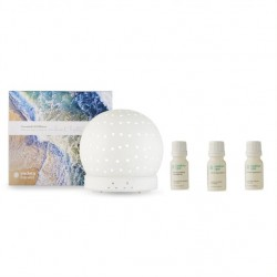 Endota Live Well Essential Oil Diffuser and Essential Oil Pack - Signature, Clarity, Breathe