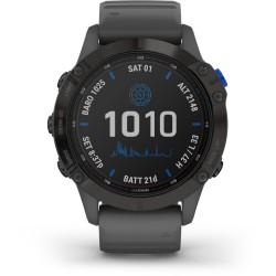 Garmin Fenix 6 Pro Solar Sports Watch (Black w/ Slate Grey Band)