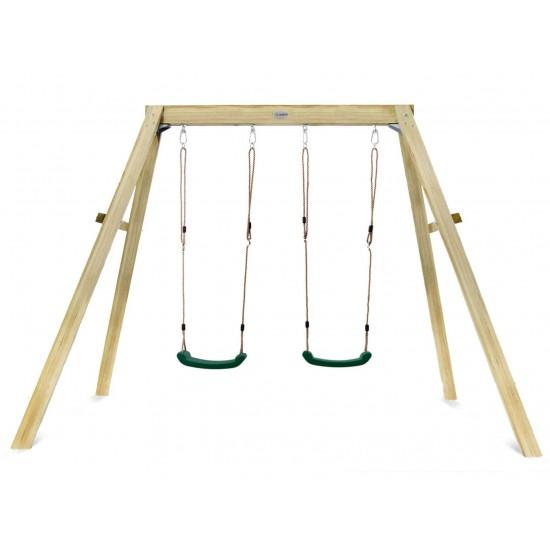 Lifespan Kids Holt 2-Station Timber Swing Set