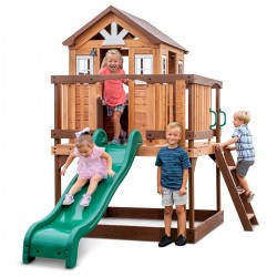 Lifespan Kids Backyard Discovery Echo Heights Cubby House with Slide