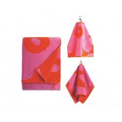 Marimekko Unikko Red/Pink Mixed Towel Set