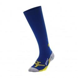 2XU Flight Compression Socks Mens - Navy/Yellow