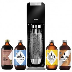 SodaStream Power Black with Flavours